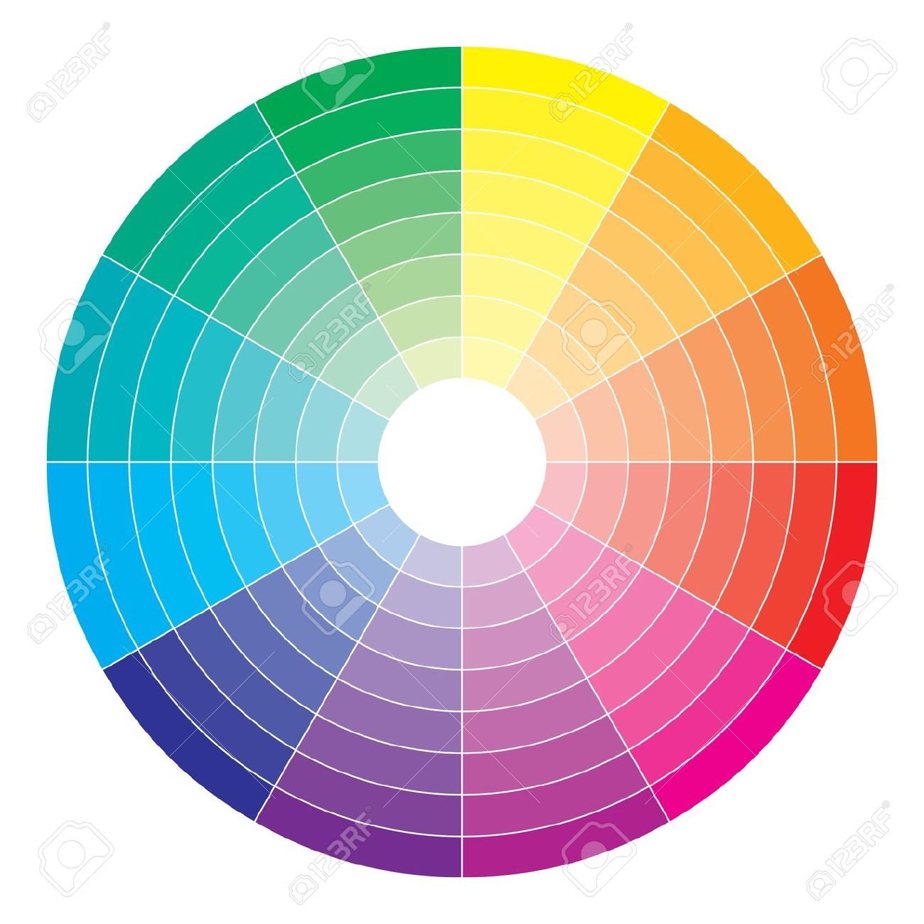 Color Spectrum Abstract Wheel, Colorful Diagram Background Royalty.