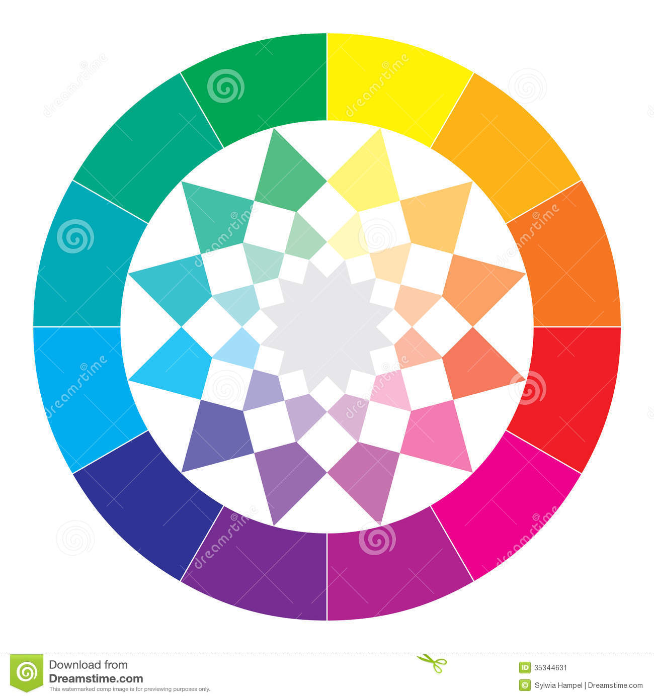 Color Spectrum Abstract Wheel, Colorful Diagram Stock Image.