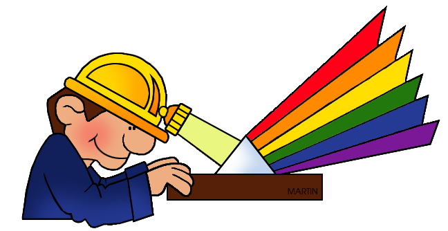 Free Science Clip Art by Phillip Martin, Color Spectrum.