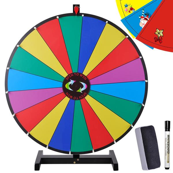 "30"" Tabletop Dry Erase Color Spinning Prize Wheel."