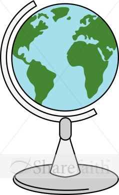 Spinning Globe Clipart.
