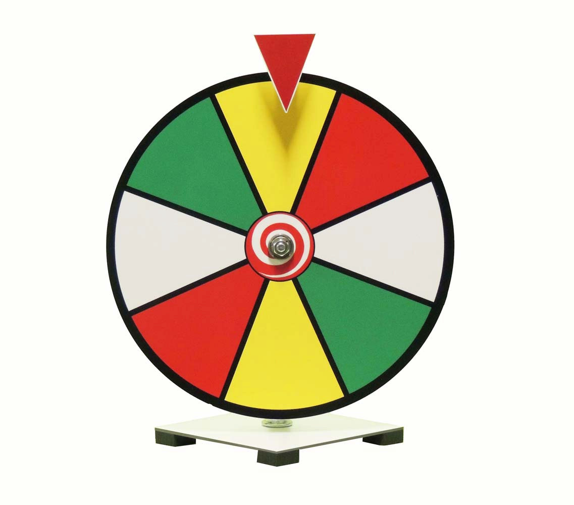 12 Inch Multi Color Dry Erase Spinning Prize Wheel for Business.