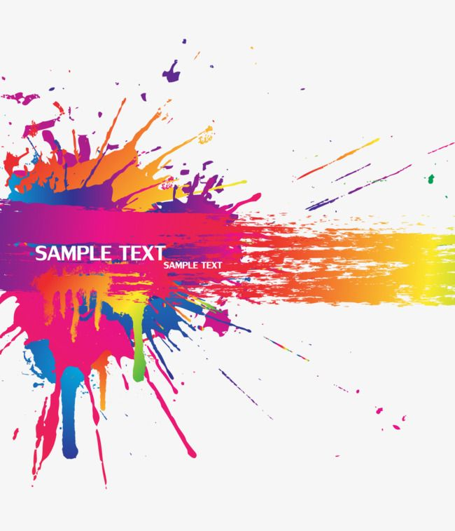 Color Splash Background Vector Material, Color, Splash.