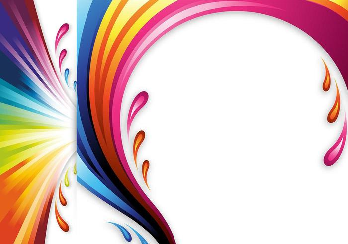 Color Splash Vector Headers and Wallpapers.