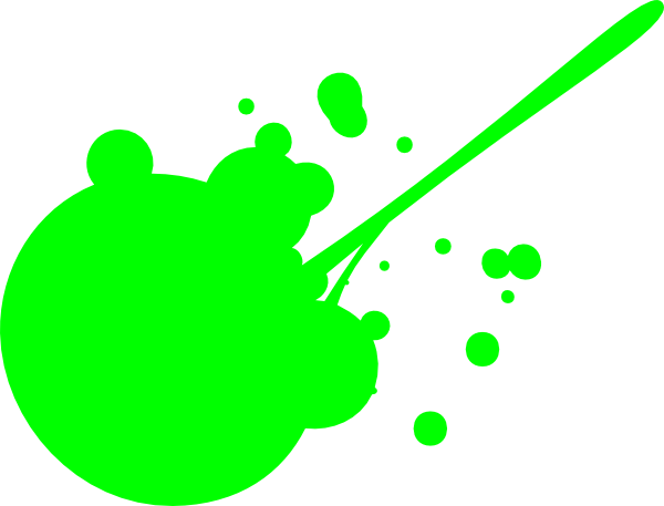Green Paint Splatter Clip Art at Clker.com.