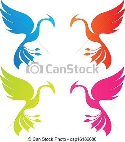 Vector of phoenix color csp16186686.