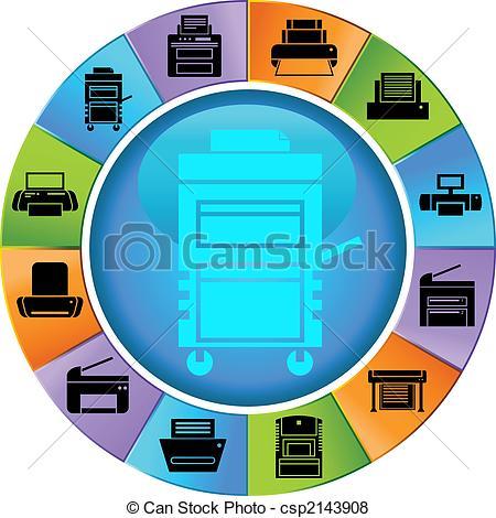Vector of Printer Wheel Color.