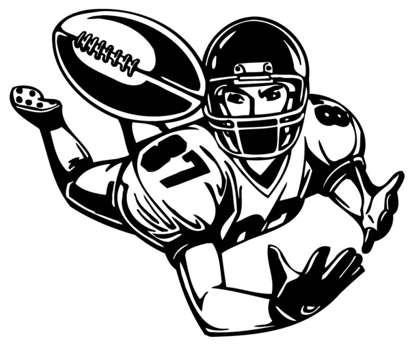 Clipart of strong full body animals playing football.