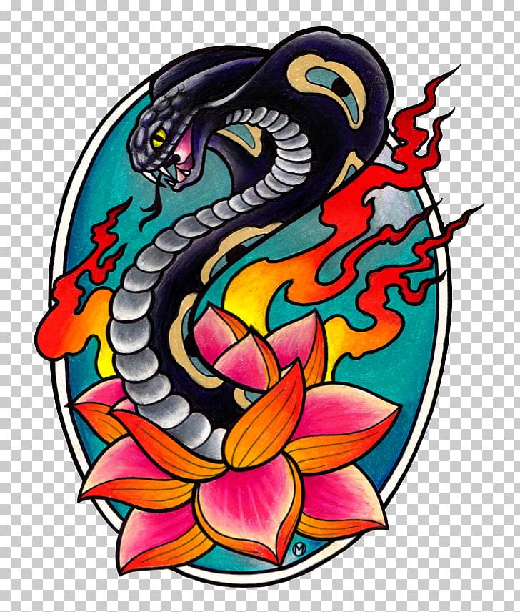 Black Cobra Tattoo Studio Rose Tattoo , Tattoo color PNG.