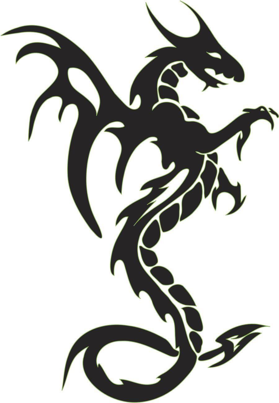 Tattoo clipart dragon.