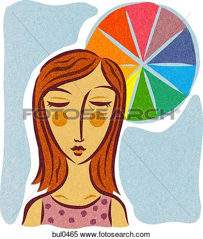 Color therapy clipart.