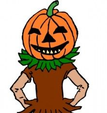 Pumpkin Boy Color Version clip art.