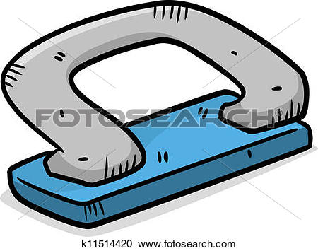 Clipart of hole puncher color version k11514420.