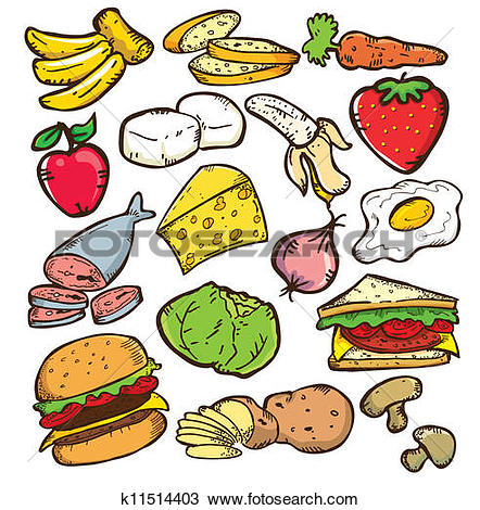 Clipart of HEALTHY FOOD COLOR VERSION k11514403.