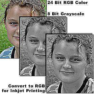 Grayscale and Desaturation Methods to Change Color.