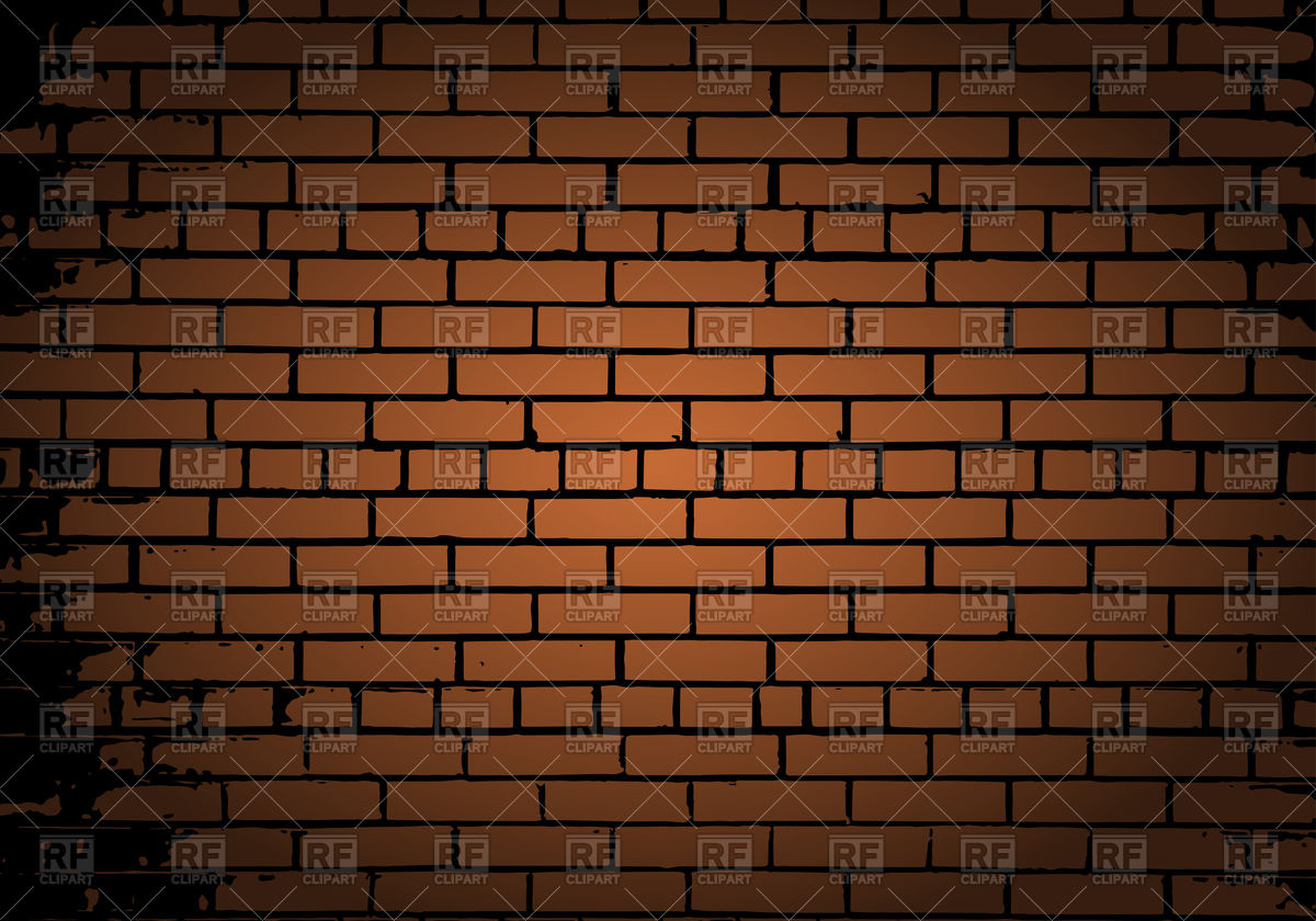 Grunge color brick wall background Vector Image #107250.