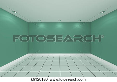 Stock Illustrations of empty room color wall k9120180.