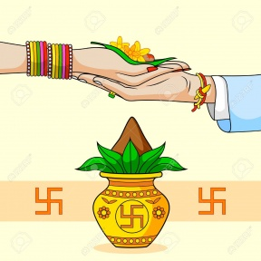 Indian Marriage Colour Clipart.