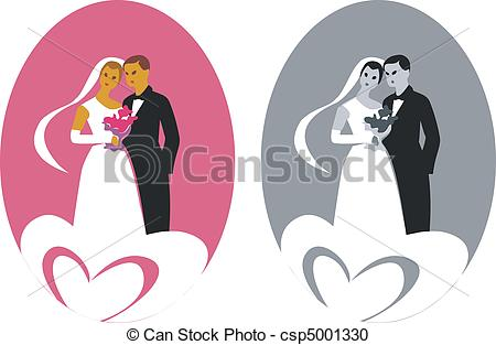 Wedding Couple 03 Vector.