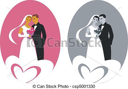Wedding Couple 03 Vector.