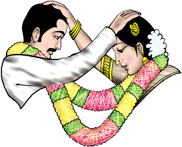 Color Wedding Clipart.