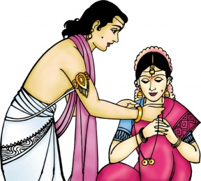 Indian Wedding Clipart Colour.