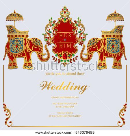 Elephant Wedding Stock Images, Royalty.