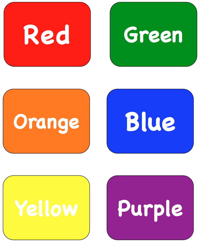 Color Words Flash Cards Pictures to Pin on Pinterest.