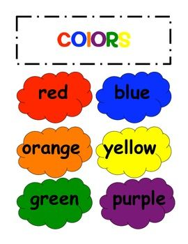17 Best images about Color Words on Pinterest.