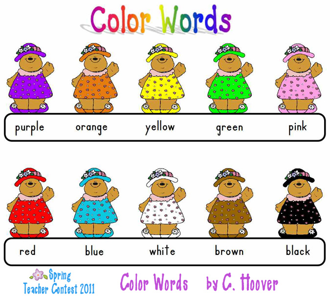 Color Words Clipart (98+).