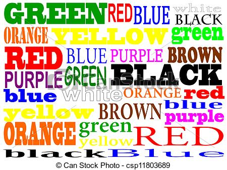 Vector of Colour words.