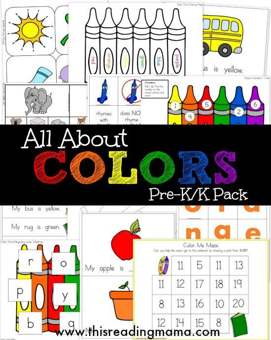 25+ best ideas about Preschool Color Theme on Pinterest.