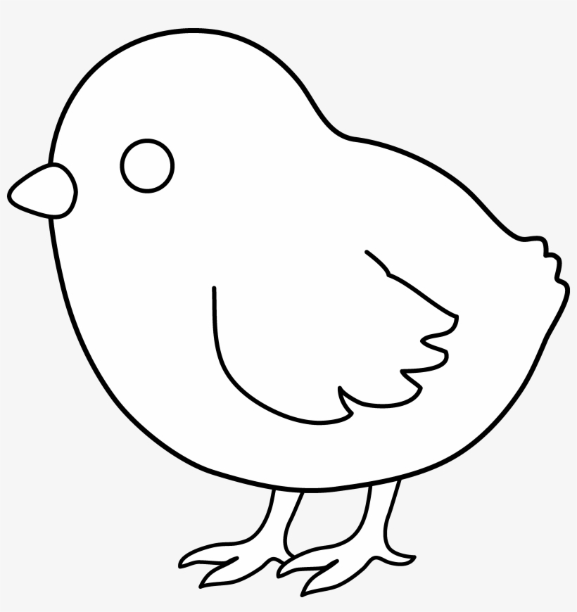 Cute Colorable Baby Chick.