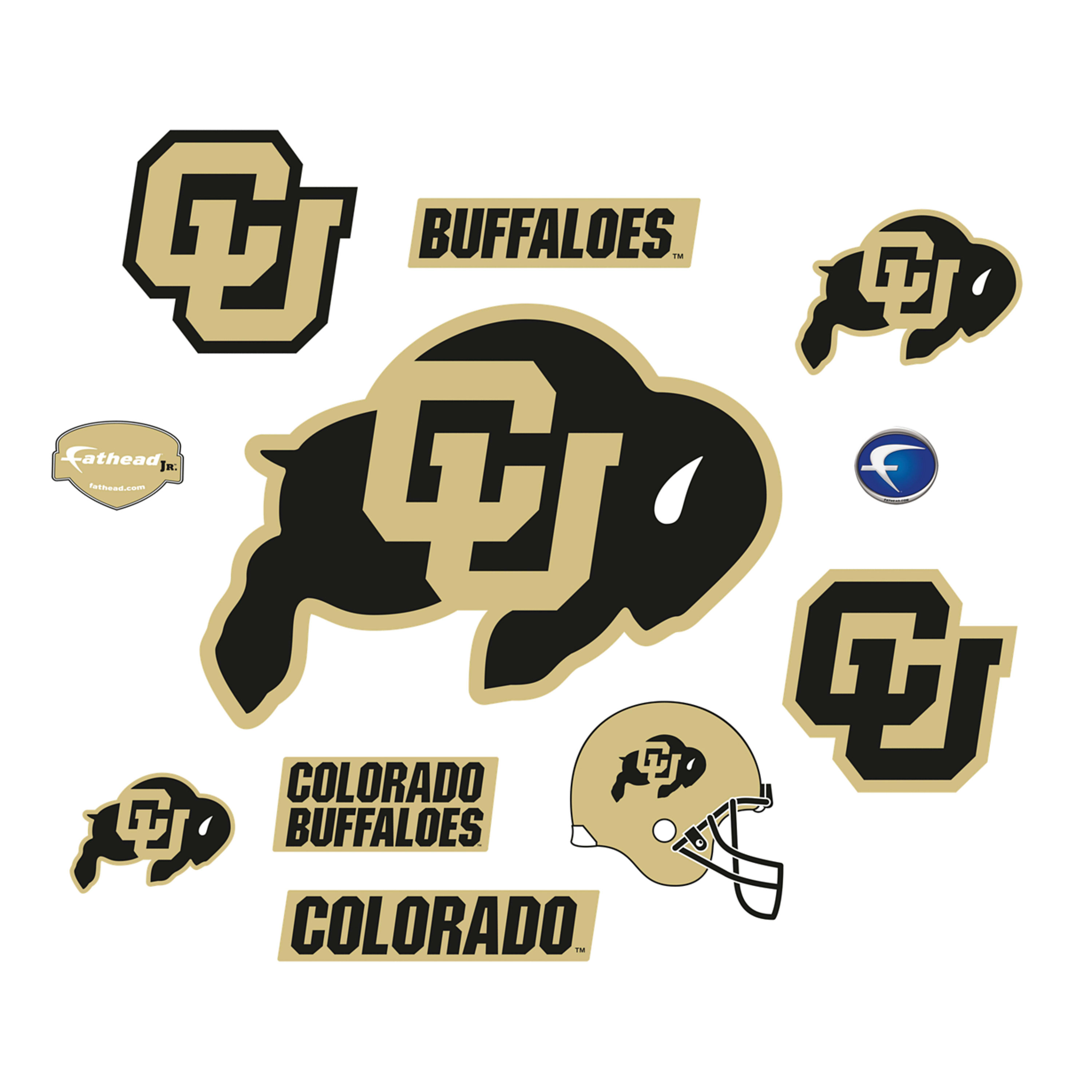 Colorado Buffaloes: Logo Assortment.