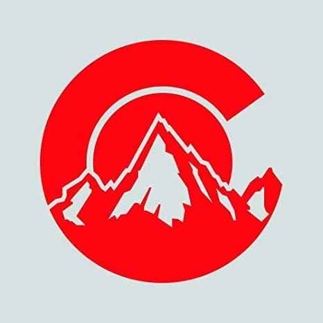 Colorado C Logo Shaped Sticker.