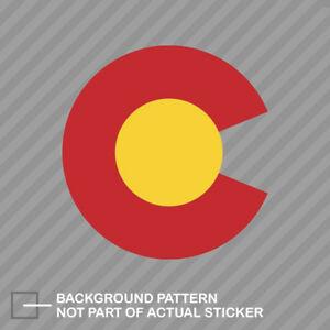 Details about Colorado C Logo Shaped Sticker Die Cut Decal CO Denver  Boulder Native shape flag.