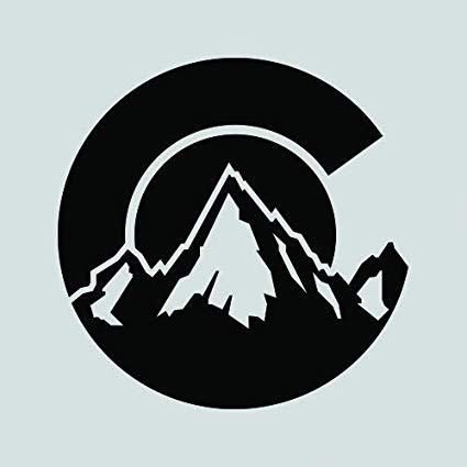 RDW Colorado C Logo Shaped Sticker.