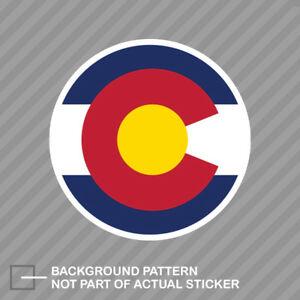 Details about Colorado C Logo Round Flag Sticker Die Cut Decal CO Denver  Boulder Fort Collins.