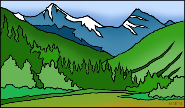 Colorado mountains clipart.