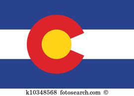 Colorado flag Clipart Vector Graphics. 154 colorado flag EPS clip.
