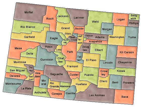 Colorado map image.