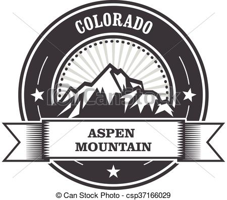 Vector Illustration of Aspen, Colorado.