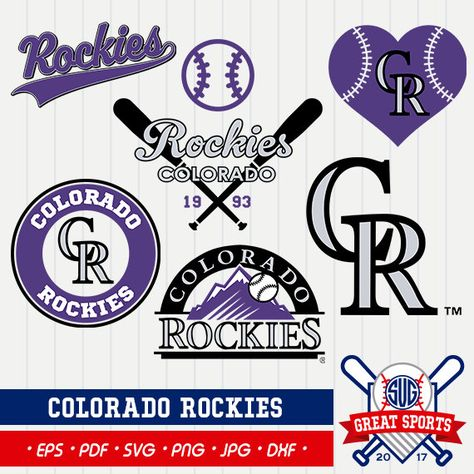 Colorado Rockies SVG, Rockies Clipart, Colorado Rockies DXF.
