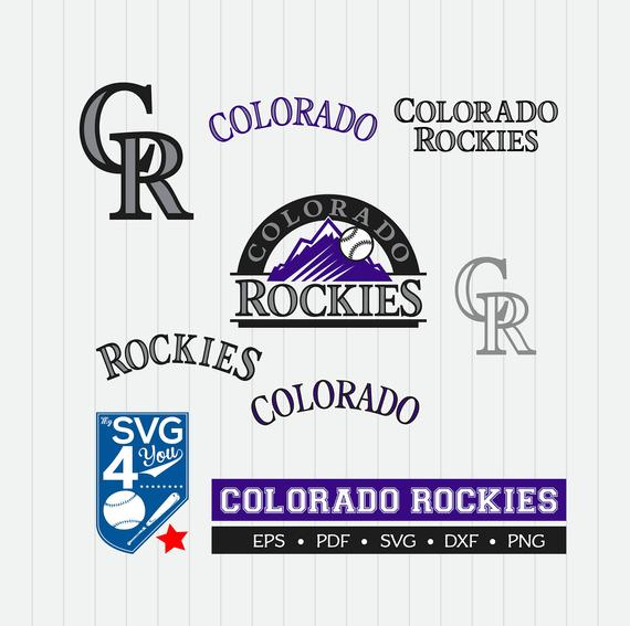 Colorado Rockies Cut Files, SVG Files, Baseball Clipart, Cricut Colorado  Rockies, Cutting Files, Baseball DXF, Clipart, Instant Download.
