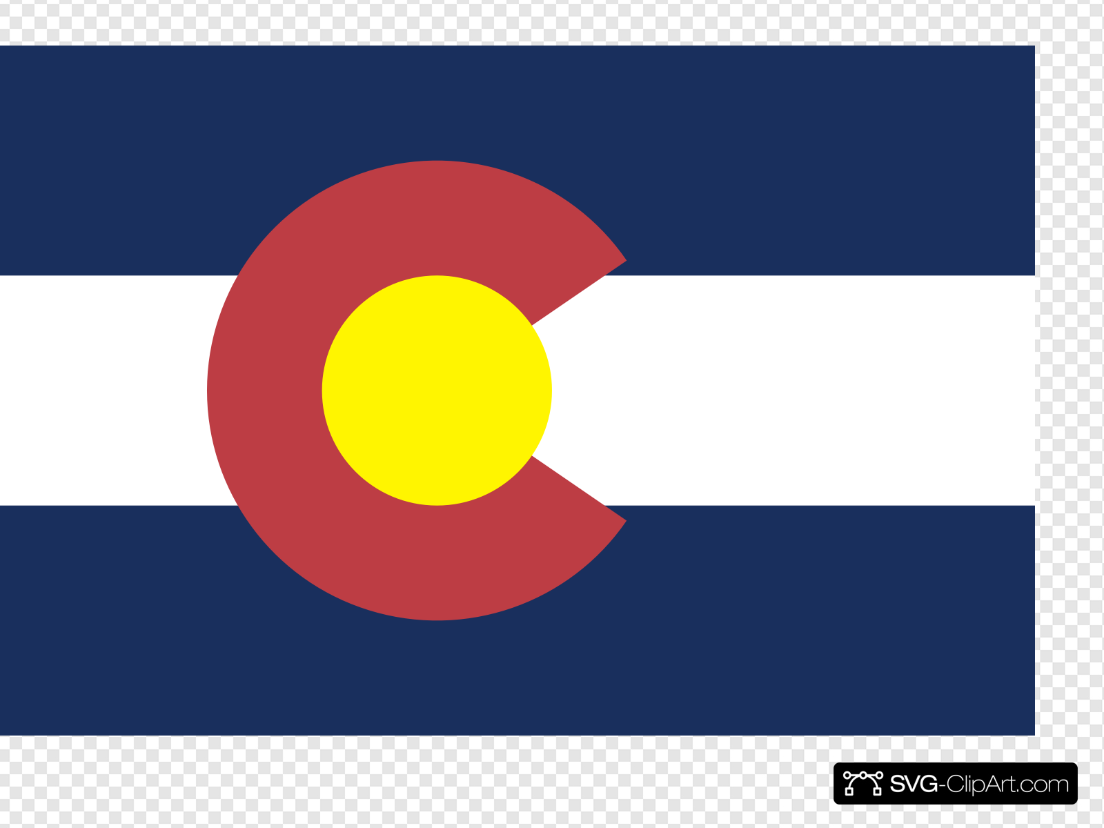 Flag Of Colorado Clip art, Icon and SVG.
