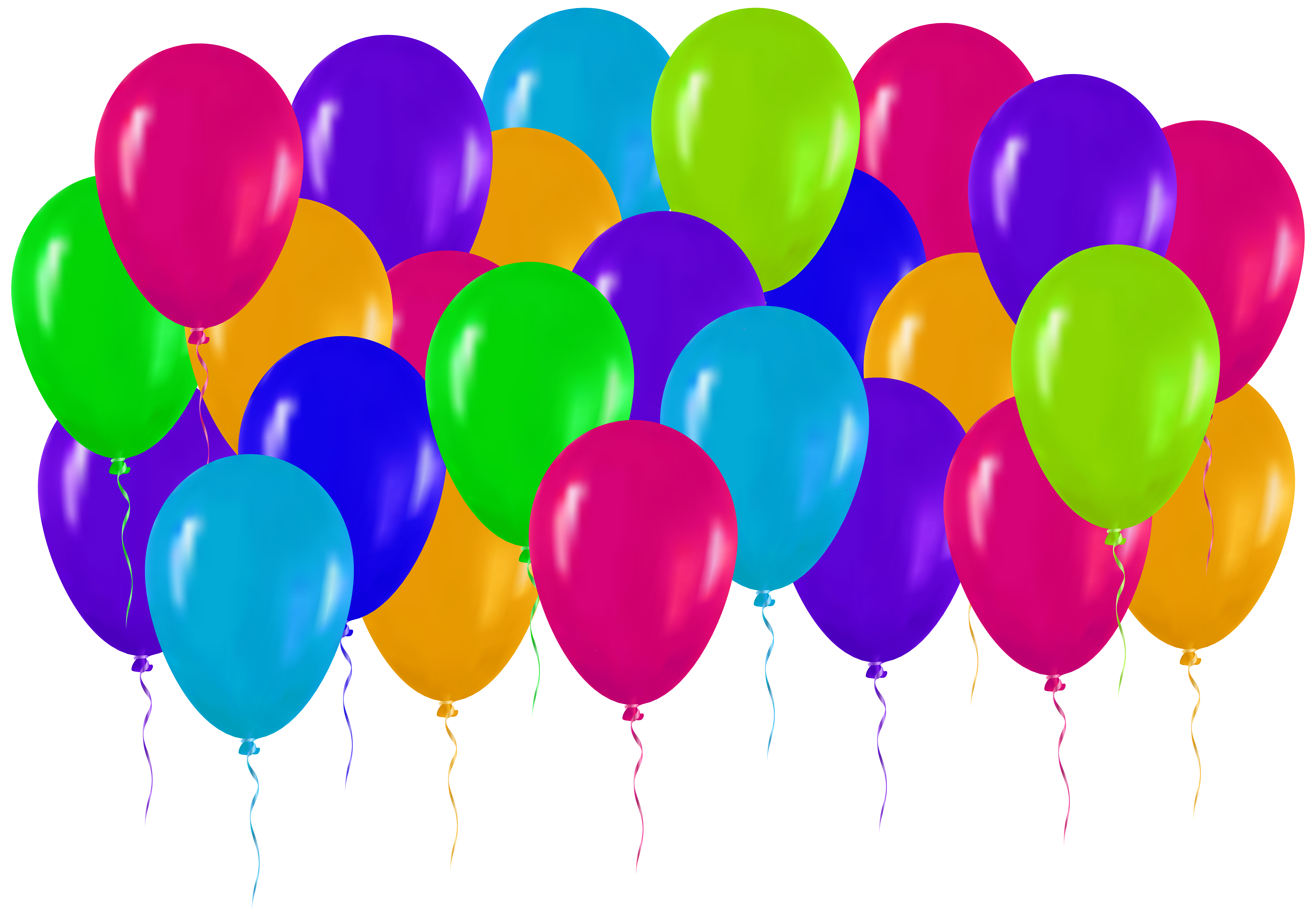Colorful Balloons Clipart.