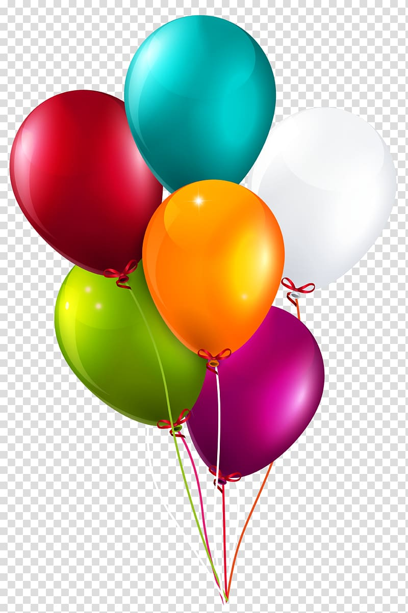 Balloon , Colorful Balloons Bunch Large , six assorted.