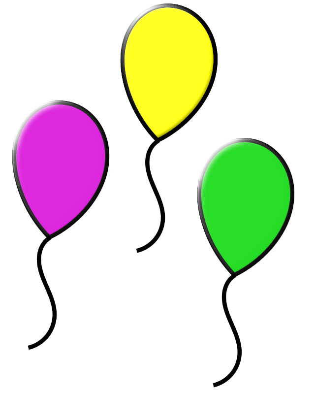 Free Clipart: Colored balloons.