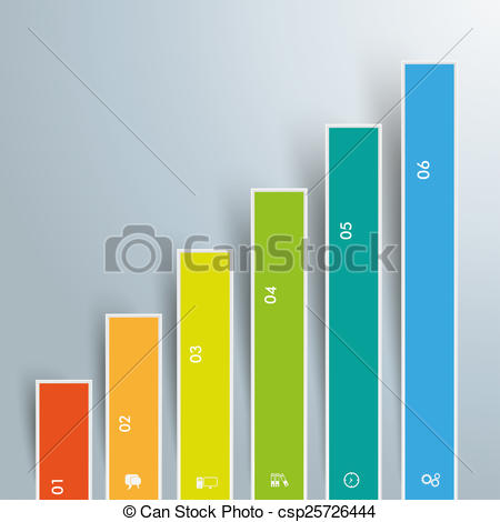 Drawing of Chart Growth Colored Bars.