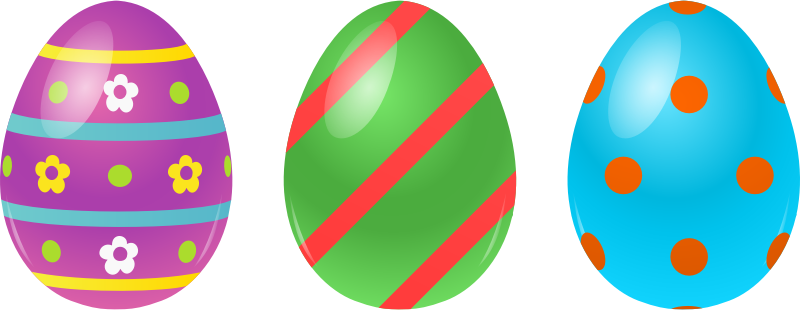 Colorful Easter Eggs Clipart.